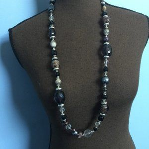 Cookie Lee Long Beaded Statement Necklace